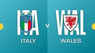 Italy v Wales badges