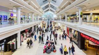 Shoppers in the Metrocentre's Red Mall