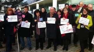 Children's Centres protest