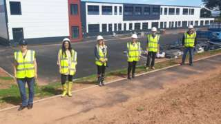 Teaching Staff Standing Outside The New Isambard Kingdom Brunel Primary School In Wellington