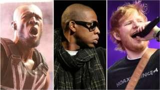 Stormzy, Jay-Z and Ed Sheeran