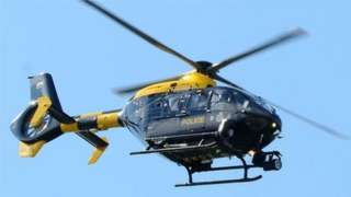 Police helicopter for South Wales and Gwent Police areas