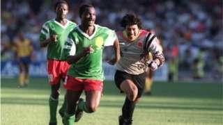 Kikosi cha Cameroon mwaka 1990 kilikuwa cha kwanza kufika hatua ya robo-fainali katika michuano ya kombe la dunia
