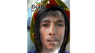 Bob Marley feature on Snapchat