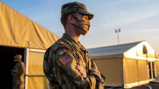 US soldier in Germany, where thousands of overseas troops are based