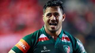 Leicester centre Manu Tuilagi scored what proved to be the winning try at Welford Road on his 100th appearance