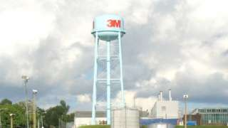 3M water tower at the 3M factory in Penllergaer