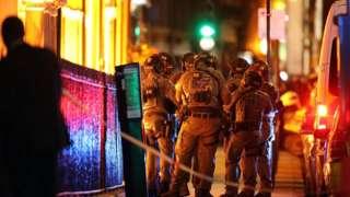 Armed police at London Bridge