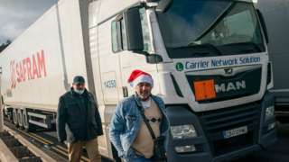 Lorry drivers at Port of Dover