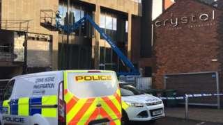 Police at Crystal Bar, Sheffield