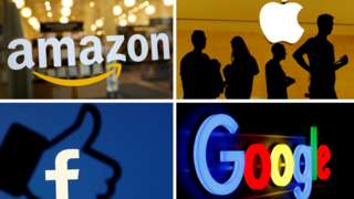 Amazon, Apple, Facebook and Google logos