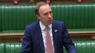 Matt Hancock in Parliament on 17 May