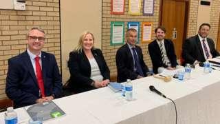 Rushen candidates at public meeting