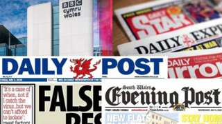 BBC Cymru Wales Cardiff HQ, Daily Post, Evening Post and Reach titles