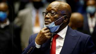 South Africa's former President Jacob Zuma at his trial
