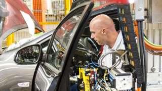 Stock image of UK car production
