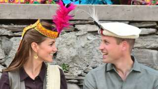 The Duke and Duchess of Cambridge visit a settlement of the Kalash people in Chitral