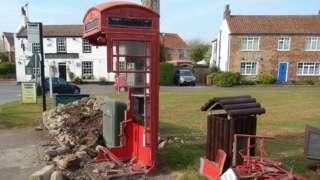 Damaged phone box
