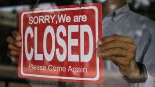 Closed sign
