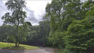 Streetview of country park entrance