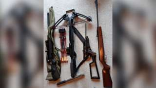 Weapons seized in Cheshire drug raids