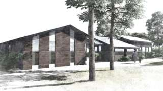 artist's impression of communal building in new retirement village
