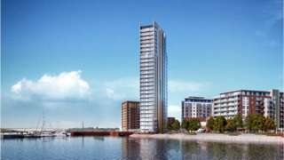 artist's impression of new 27-storey tower block