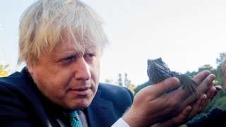 Boris Johnson and a Tuatara lizard
