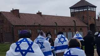 Jewish visitors at Auschwitz (file photo)