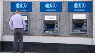 TSB cash machines