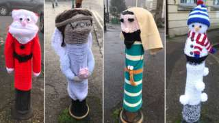 Decorated bollards