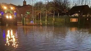 School flooded