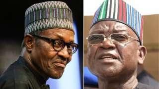 President Buhari and Govnor Samuel Ortom