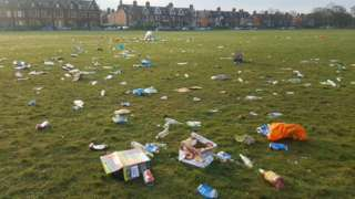 Rubbish on the Town Moor