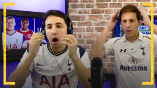 Simeon and Ben Daniel during WeAreTottenhamTV's live watchalong of Spurs' 3-3 draw with West Ham