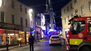 Fire in Bangor