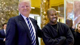 President Trump and Kanye West in 2016