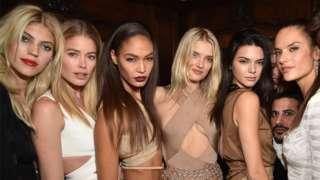 Models at a Paris Fashion Week show in 2016