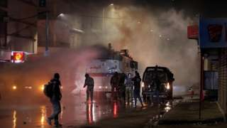 Security forces clash with demonstrators during anti-government protests in Tunis, Tunisia, 18 January 2021