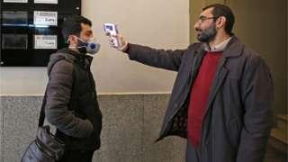 Проверка от коронавируса в Иране
