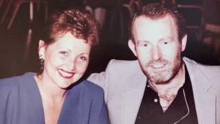 John Harding and wife Heather. pictured around 30 years ago