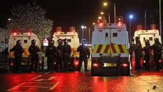 Police in Carrickfergus on Sunday night