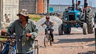 Personas en una zona rural en México.