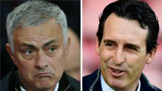 Man Utd boss Jose Mourinho and Arsenal manager Unai Emery