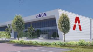 Artistic impression of the plant to be built