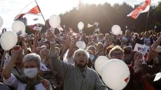Митинг оппозиции в Минске