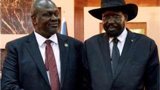 Salva Kiir na Machar