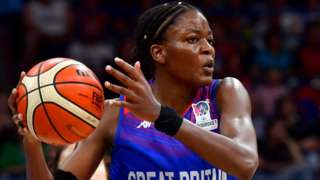 Temi Fagbenle in action for Great Britain women