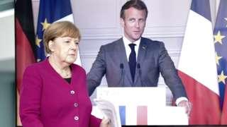 Merjel y Macron