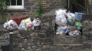 Bags on doorstep